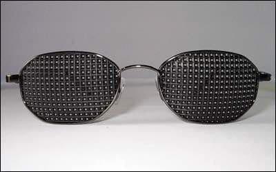 Gafas reticulares piramidales